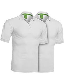Youstar Solid Dri-Fit Active Athletic Golf Short Sleeves Pol