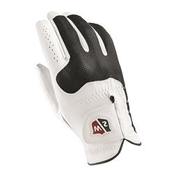 Wilson Sporting Goods Staff Conform Golf Glove, White, Large