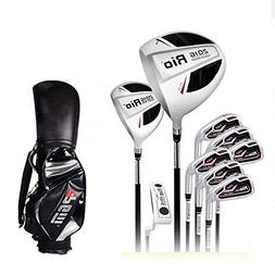 9Pcs Junior Kids Graphite Golf Clubs Complete Sets with Pack