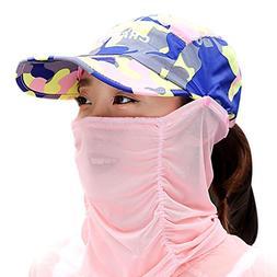 Summer Quick Dry Folding Wide Brim Sun Hat Anti UV Face Sun
