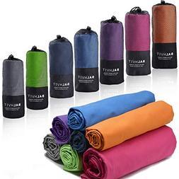 Balhvit Super Absorbent Microfiber Towel, 4 Sizes - 7 Colors