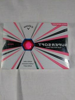 supersoft golf balls one dozen pink brand
