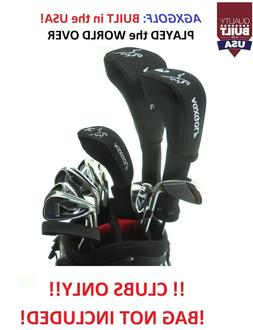 """TALL +1.5"""" MENS LEFT HAND COMPLETE GOLF SET wDRIVER+3WD+3HY+"""