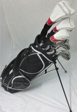 Mens TaylorMade Golf Club Set Driver Wood Hybrid Irons Putte