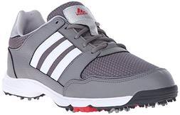 adidas Men's Tech Response 4.0 Golf Shoe, Iron Metallic/Whit