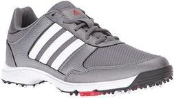 adidas Men's Tech Response Golf Shoe, Iron Metallic/White, 1