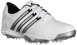 adidas Men's Tour360 X Golf Shoe,Running White/Black/Silver,