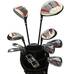 PowerBilt TPS Men's 16 Pc Golf Set with Stand Bag, Graphite/