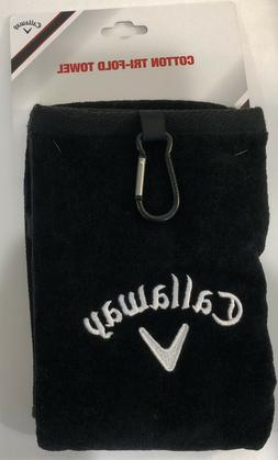 Callaway Tri Fold Towel, Black