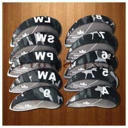 USA Ship 10PCS 4#-LW Golf Iron Covers Headcovers For Cobra T