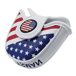 Craftsman Golf USA America Mallet Putter Cover Headcover for