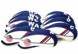 USA FLAG For GOLF Iron Head Covers Headcovers Club Protectio