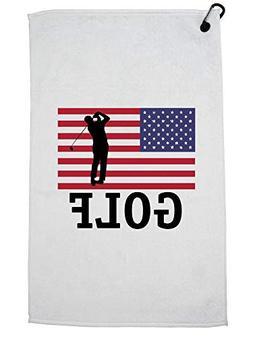 Hollywood Thread USA Olympic - Golf - Vintage Flag - Silhoue