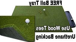 5 x 10 GORILLA Perfect ReACTION Golf Mats. Use Real Wood Tee