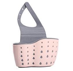 SHJNHAN Useful Suction Cup Sink Shelf Soap Sponge Rack Kitch