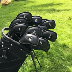 USSHIP Set Of 12PCS Black Craftsman Golf Iron Wedge Headcove