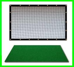 Golf Mat Golf Net Combo 9' x 10' High Velocity Impact Panel