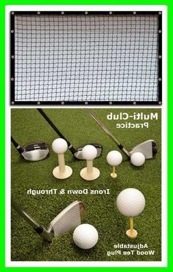 Golf Mat Golf Net Combo 9' x 10' High Velocity Impact Panel