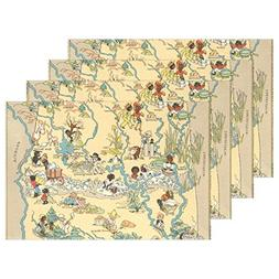 CoolPrintAll Vintage 1935 Alabama State Map Placemat Table M