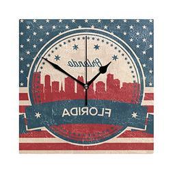 Franzibla Vintage American USA Flag Florida State Orlando Sk