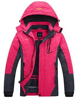 Wantdo Women's Waterproof Mountain Jacket Fleece Ski Jacket