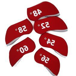 Wedge Golf Head Covers Neoprene Case For 48-60 degree 6pcs/s