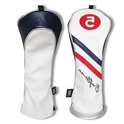 Craftsman Golf White Blue Red Pu Leather Diagonal Stripes Dr