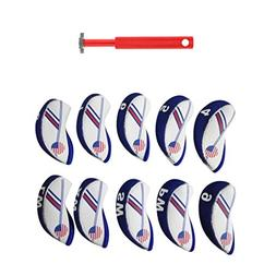 Dovewill Set of 10 Pieces White & Blue USA Flag Neoprene Gol