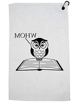 Hollywood Thread Whom - Owl Standing on Grammar Book Graphic