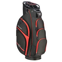 Wilson Staff Xtra Cart Bag, Black/Red