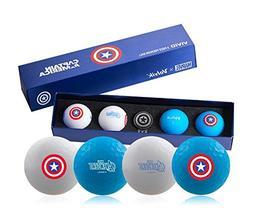 Volvik X Marvel Heroes Vivid XT 4 Golf Balls + Ball Marks -