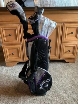 Callaway XJ Hot  Purple 8 Piece Junior Complete Golf Set RH