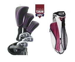 AGXGOLF XLT LADIES PETITE GRAPHITE GOLF SET wCART BAG +12* D